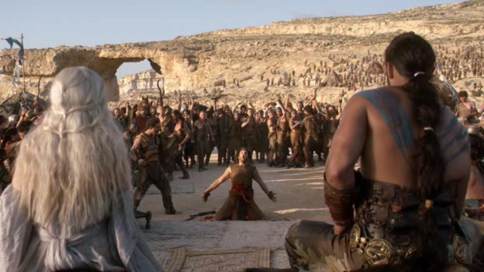 Dothraki Wedding Scene - Less than three deaths at a Dothraki wedding is considered dull., remember