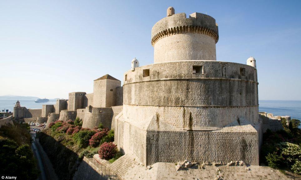 The Minceta Tower in Dubrovnik, Croatia a UNESCO World Heritage Site
